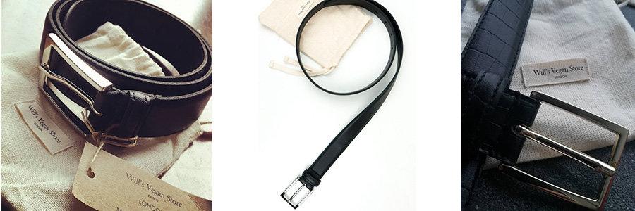 wills classic black vegan leather belt