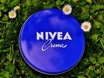 nivea cream on grass
