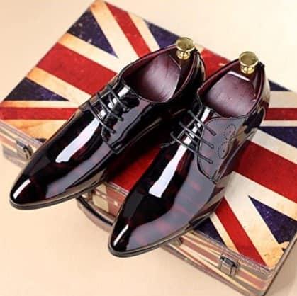 Gaorui Floral Patent Derby Shoes