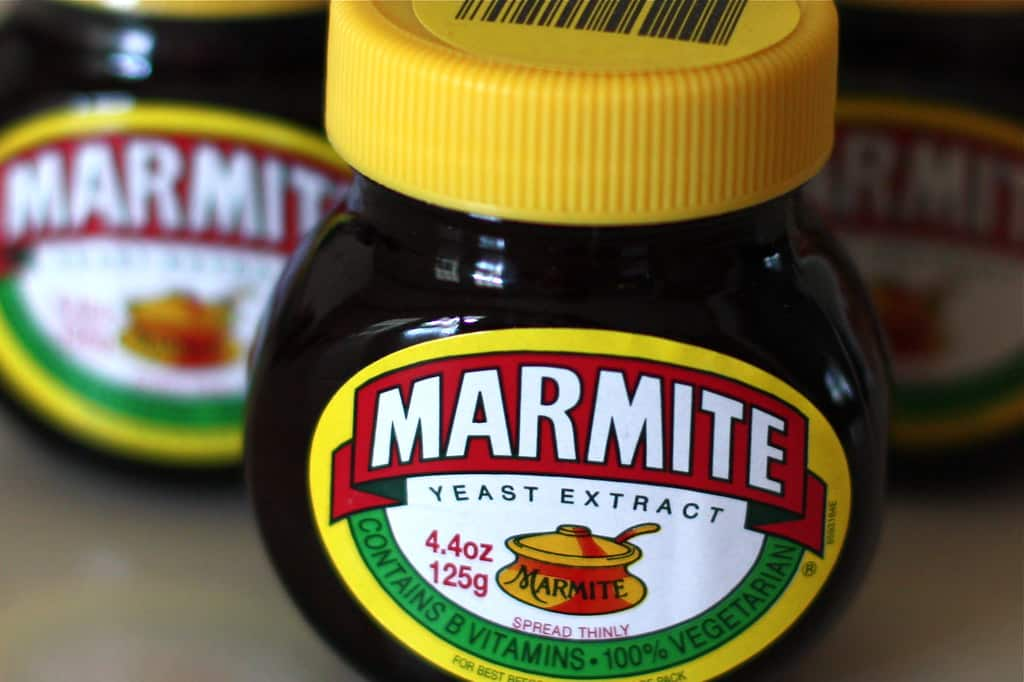 marmite yeast spread on table