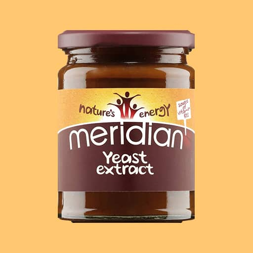 meridian yeast extract on orange background