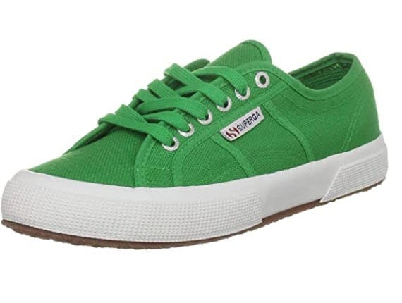 vegan sneakers womens green superga classic low top trainers