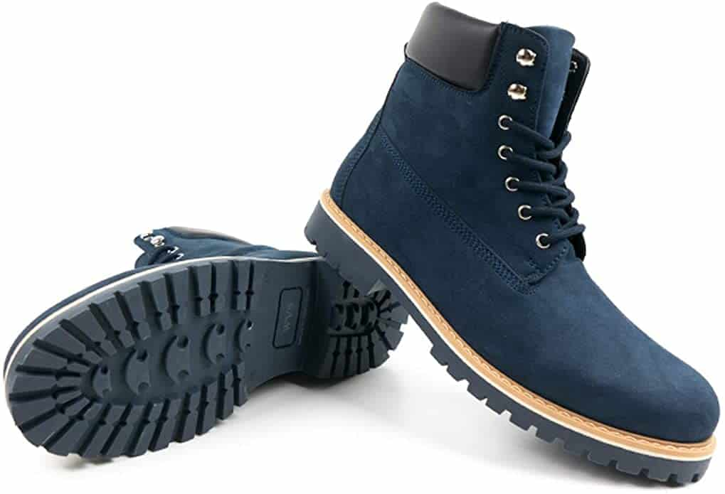 vegan timberlands will's vegan shoes dark blue dock boots for men