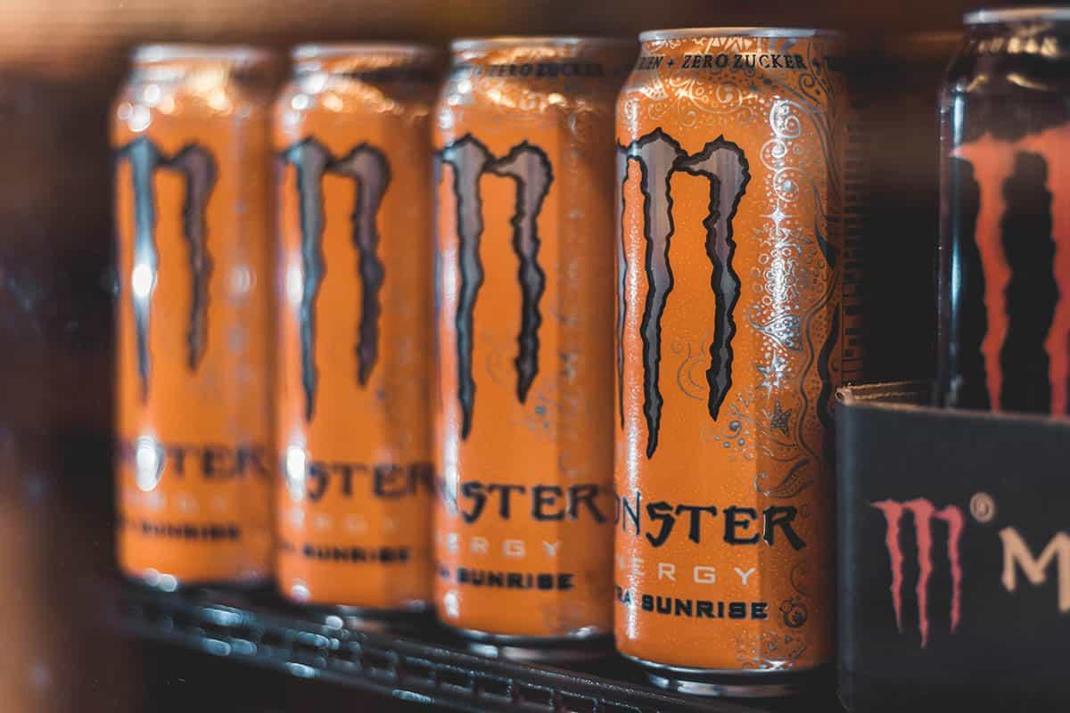 cans of monster energy ultra sunrise