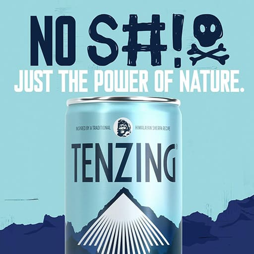 natural energy drink by tenzing