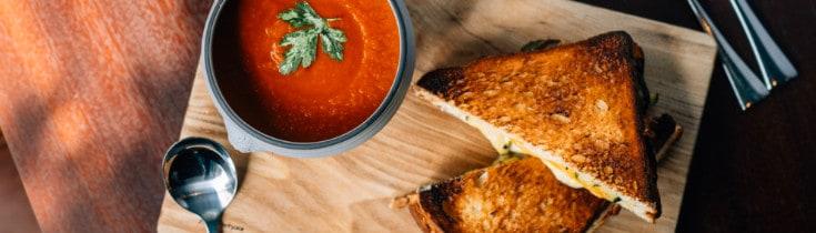 vegan toast and sauce