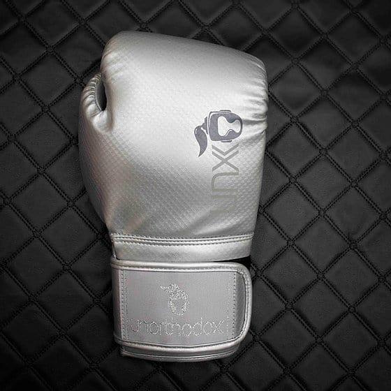 Unorthodox Silver Justice Vegan boxing glove