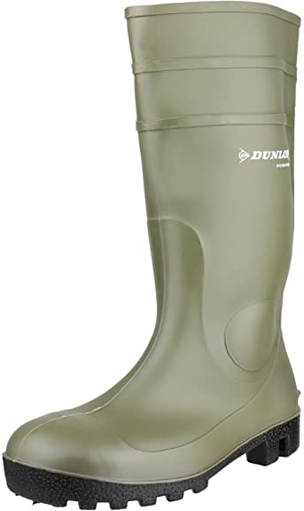 green dunlop vegan work boots waterproof