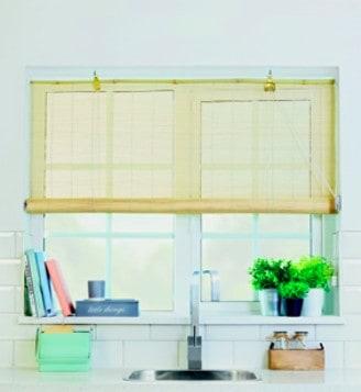 homebase white bamboo blinds