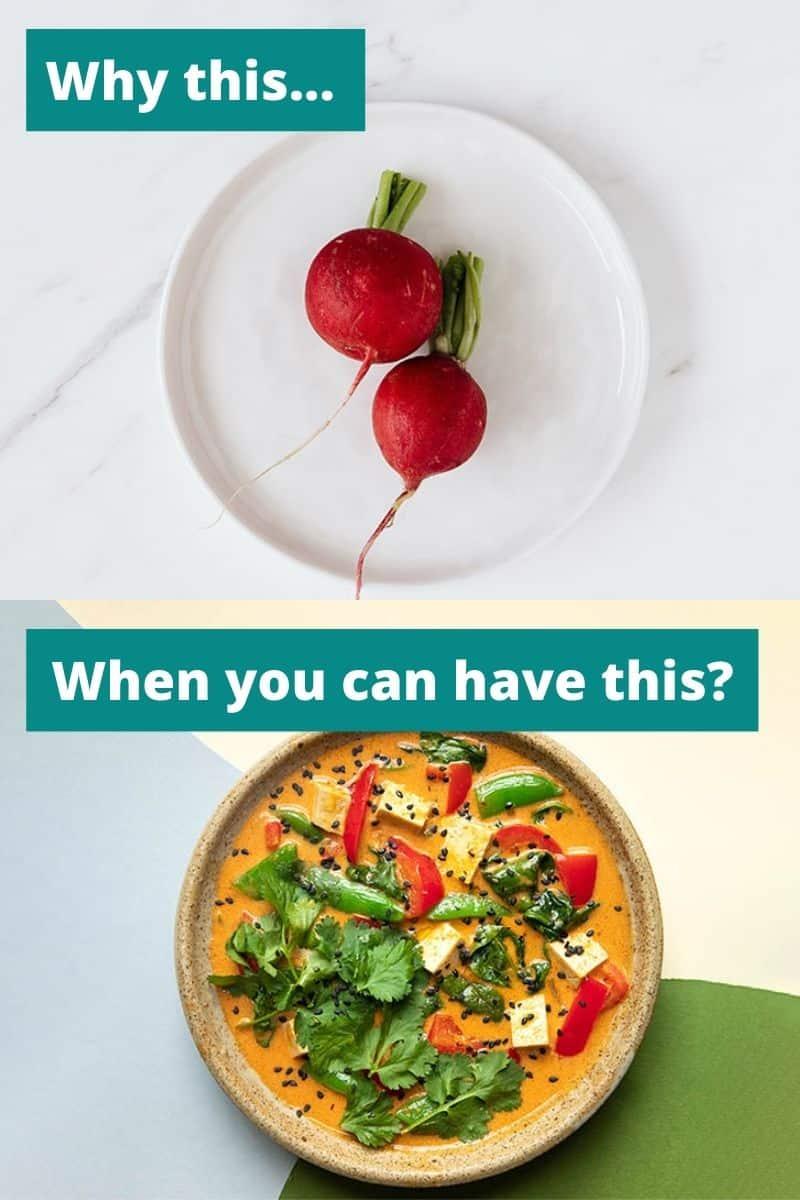 boring vegan food vs chef prepared vegan food